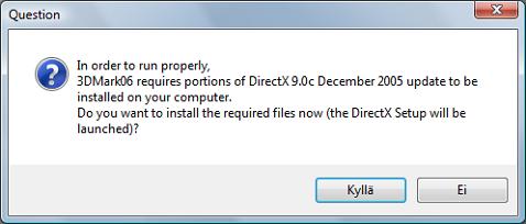 3Dmark06 directx 9