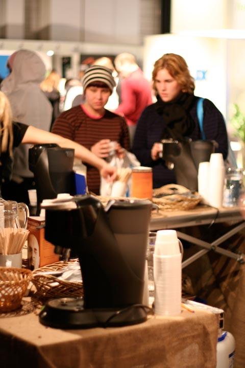 Kahvia messuilla