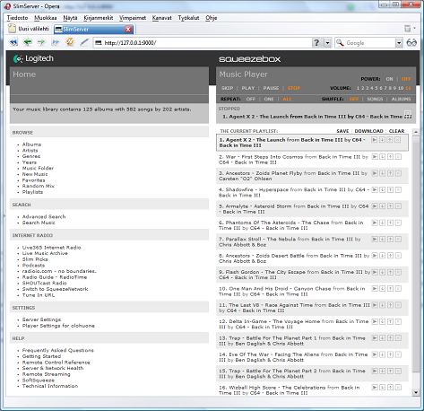 SlimServer home page
