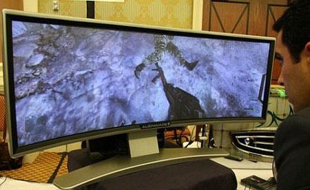 Alienware kaareva dlp näyttö CES 2008