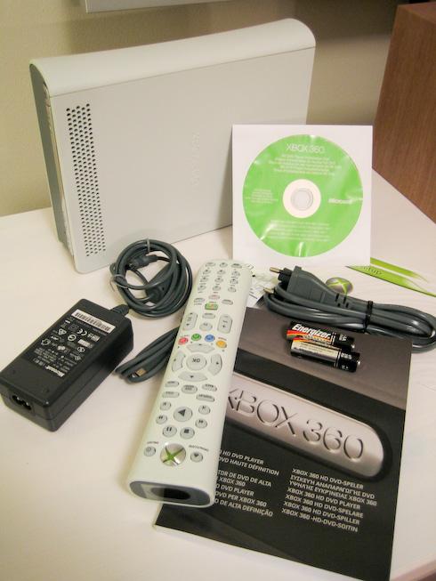 Xbox HD DVD laatikon sisältö