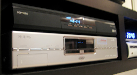 Topfield 5100 PVRc Masterpiece ja Philips DVD-soitin