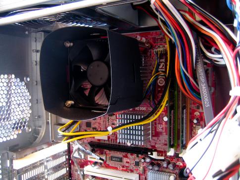 Fujitsu-Siemens Scaleo Pi2666 prosessorin tuulitunneli