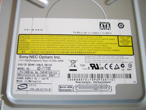 Fujitsu-Siemens Scaleo Pi2666 DVD-asema