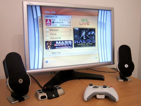 Xbox 360 Fujitsun 24? näytössä