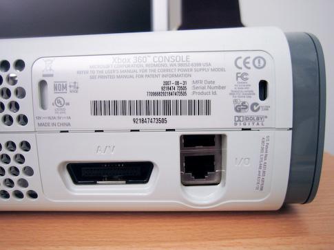 Xbox 360 AV-liitännät