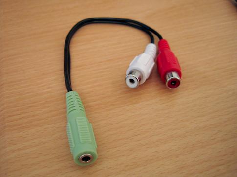 RCA-naaras ja 3,5mm-naaras adapteri