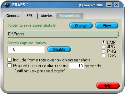 Fraps Screenshots