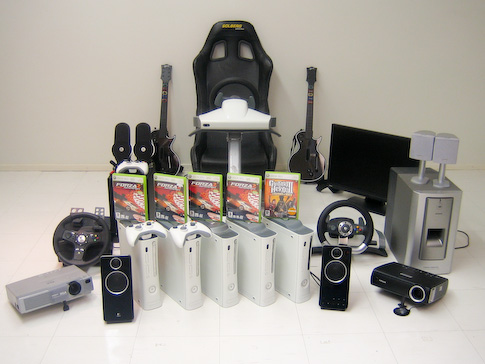 Xbox 360 peli-illan tarvikkeita