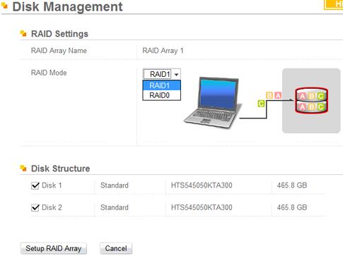 Buffalo LinkStation Mini 1TB RAID asetukset
