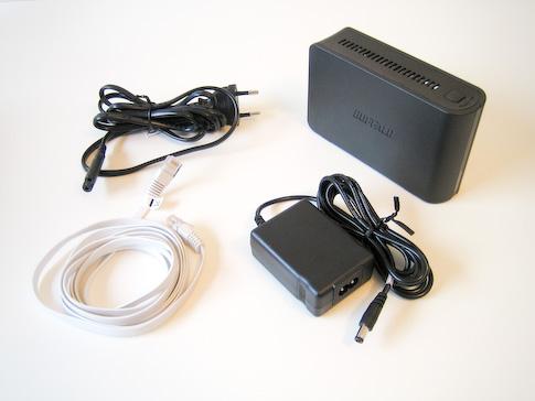 Buffalo LinkStation Mini 1TB paketin sisältö