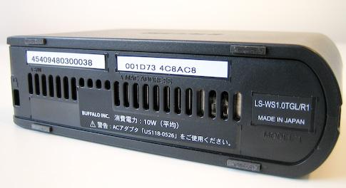 Buffalo LinkStation Mini 1TB pohjasta
