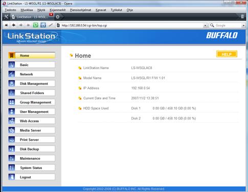 Buffalo LinkStation Mini 1TB home