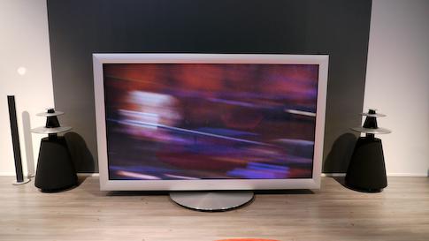 Bang & Olufsen 103 tuuman plasma-tv:n moottorisoitu jalusta oli rikki.