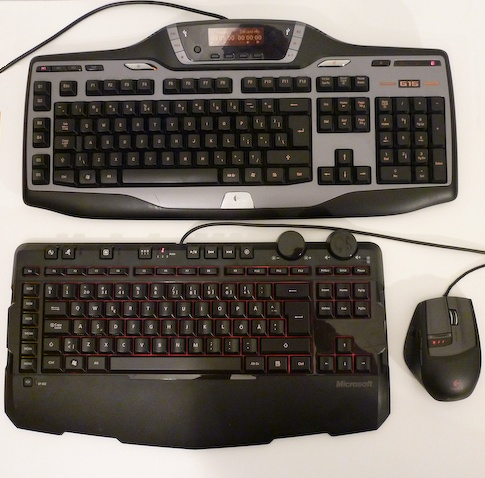 X6 antaa mukavasti tilaa hiirelle